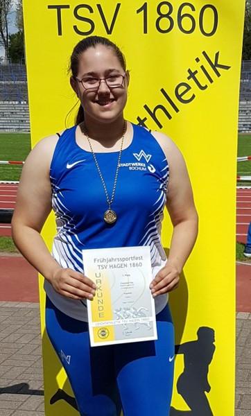 Franziska, Schülerin der Q1 (2017/18) und Leistungssportlerin im TV Wattenscheid 01